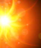 Sun background, vector design. Sun background, orange and sunny vector design Royalty Free Stock Photo