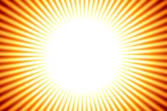 Sun Background, Yellow Stripes Royalty Free Stock Images