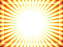 Sun background, yellow stripes Stock Image