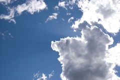 Sun backlit Wolken Stockfotografie