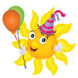 Sun with balloons Stock Photos