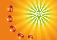 Sun with balls Stock Images