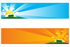 Sun Banner Stock Photos