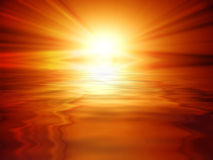 Sun banner Royalty Free Stock Photography