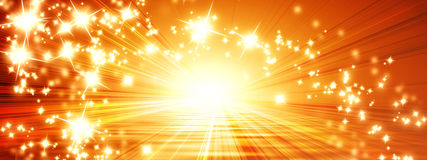 Sun banner Royalty Free Stock Images