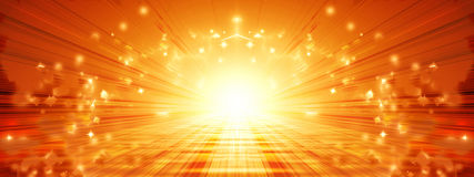 Sun banner Royalty Free Stock Photo