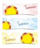 Sun Banners Stock Photo
