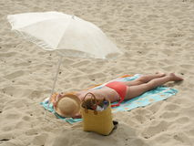 Sun bath Royalty Free Stock Photography