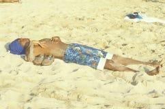 Sun Bather, Kauai, HI Royalty Free Stock Photography