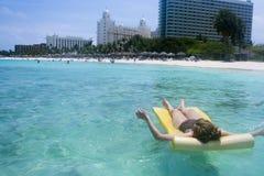 Sun Bathing Beach Royalty Free Stock Photos