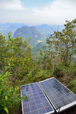 Sun batteries on top of the hill in the jungle, Krabi, Thailand Royalty Free Stock Photo