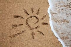 Sun on the beach Stock Photo