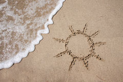 Sun on the beach Royalty Free Stock Image