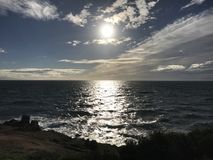 Sun at beach Stock Image