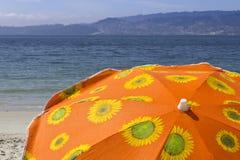 Sun beach umbrella Royalty Free Stock Photos
