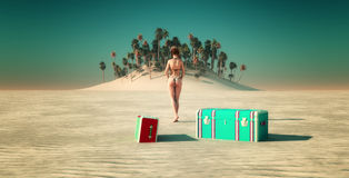 Sun and beach Royalty Free Stock Photos