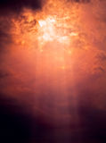 Sun beam. Breaking through clouds Royalty Free Stock Images
