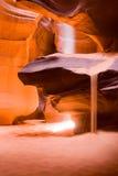 Sun beam. In Antelope canyon, Arizona stock photography
