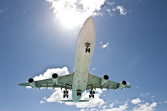 Sun Beaming Airplane Royalty Free Stock Images