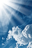 Sun beams Stock Images