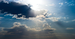 Sun beams Royalty Free Stock Images