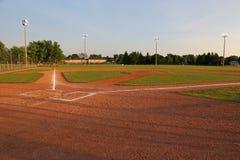 Sun Beams on a Ball Field Royalty Free Stock Photo