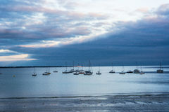 Sun Beams down on Concarneau Stock Images