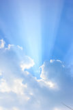 Sun beams. Light from the sun pass through clouds Royalty Free Illustration