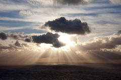 Sun beams over the Irish  Sea Royalty Free Stock Photos