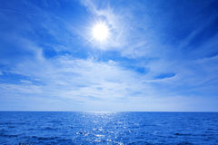 Sun, beautiful sky and ocean Royalty Free Stock Image