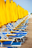 Sun beds Royalty Free Stock Image