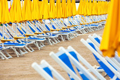 Sun beds Royalty Free Stock Photography