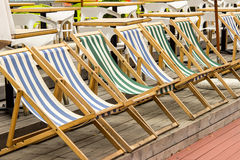 Sun beds,Park,recreation Stock Photo