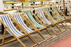 Sun beds,Park,recreation Stock Photo