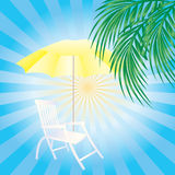 Sun beds and umbrellas Royalty Free Stock Image