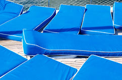 Sun beds Royalty Free Stock Photo