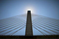 Sun Behind Bridge Spire Peak Royalty Free Stock Photos