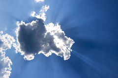 Sun behind the cloud Royalty Free Stock Photography