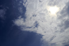 Sun behind of cloud Stock Images