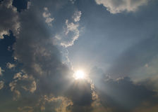Sun behind Cloud Royalty Free Stock Image