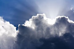 Sun behind clouds Stock Photography