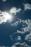 Sun behind the clouds Royalty Free Stock Photos
