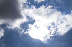 Sun behind clouds Royalty Free Stock Images
