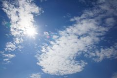 Sun behind the clouds Stock Photography