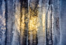 Sun behind the ice wall. Beautiful winter background with fine frosted textures of the cold surface Royalty Free Stock Photos