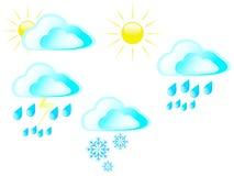 Sun bewölkt Regenschnee und -stürme Lizenzfreie Stockbilder