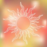 Sun bianco su fondo variopinto Fotografie Stock Libere da Diritti