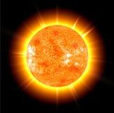 The sun on a black Stock Photos