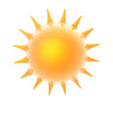 Sun blazing. Rendered image of a plump sun Royalty Free Stock Photography
