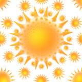 Sun blazing vortex. Rendered image of a sun falling stock illustration